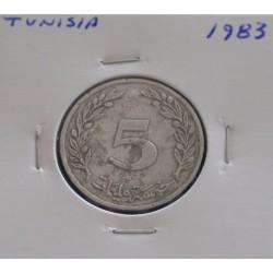 Tunísia - 5 Millim - 1983