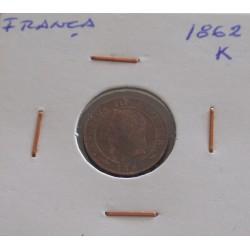 França - 1 Centime - 1862 K
