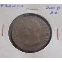 França - 5 Centimes - Ano 8 AA