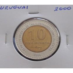 Uruguai - 10 Pesos - 2000