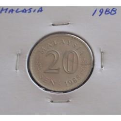 Malásia - 20 Sen - 1988