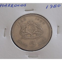 Marrocos - 5 Dirhams - 1980