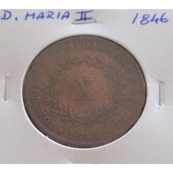 D. Maria II - X Réis - 1846