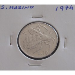 S. Marino - 10 Lire - 1974