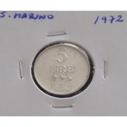 S. Marino - 5 Lire - 1972