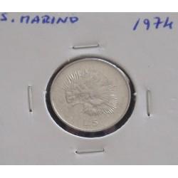 S. Marino - 5 Lire - 1974