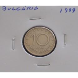 Bulgária - 10 Stotinki - 1999