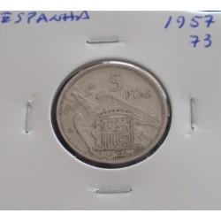Espanha - 5 Pesetas - 1957-73