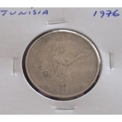 Tunísia - 1 Dinar - 1976