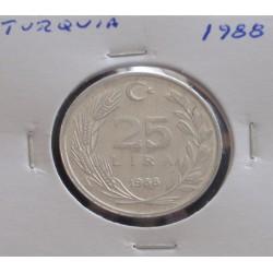 Turquia - 25 Lira - 1988