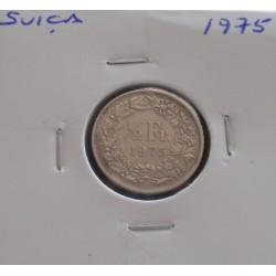 Suiça - 1/2 Franc - 1975