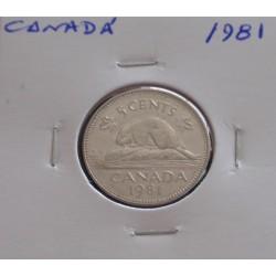 Canadá - 5 Cents - 1981