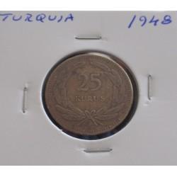 Turquia - 25 Kurus - 1948