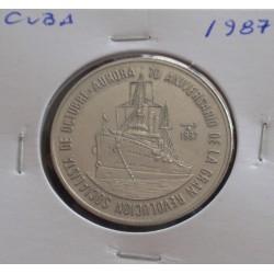 Cuba - 1 Peso - 1987