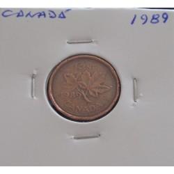 Canadá - 1 Cent - 1989