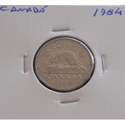 Canadá - 5 Cents - 1984