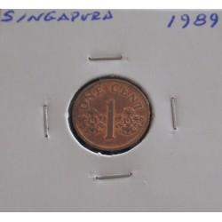 Singapura - 1 Cent - 1989