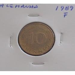Alemanha - 10 Pfennig - 1989 F