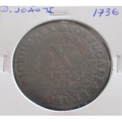 D. João V - X Réis - 1736 -...