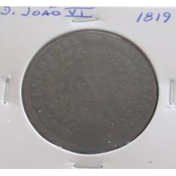 D. João VI - X Réis - 1819