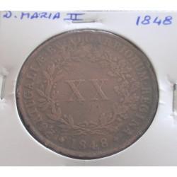D. Maria II - XX Réis - 1848
