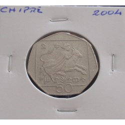Chipre - 50 Cents - 2004