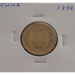 Chile - 10 Pesos - 1992