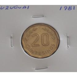 Uruguai - 20 Centesimos - 1981