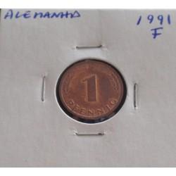 Alemanha - 1 Pfennig - 1991 F