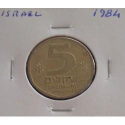 Israel - 5 Sheqalim - 1984