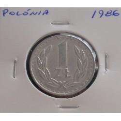 Polónia - 1 Zloty - 1986