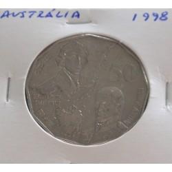 Austrália - 50 Cents - 1998
