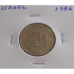 Israel - 10 Agorot - 1986