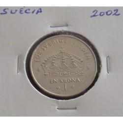 Suécia - 1 Krona - 2002