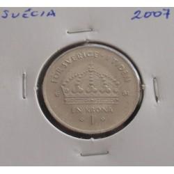 Suécia - 1 Krona - 2007