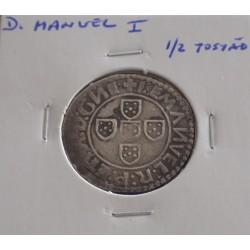 D. Manuel I - 1/2 Tostão -...
