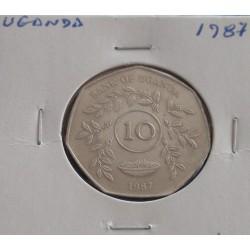 Uganda - 10 Shillings - 1987