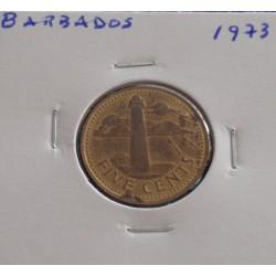 Barbados - 5 Cents - 1973