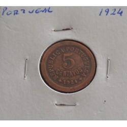 Portugal - 5 Centavos - 1924