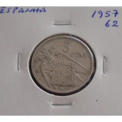 Espanha - 5 Pesetas - 1957-62