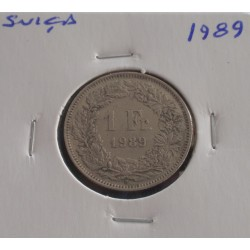 Suiça - 1 Franc - 1989