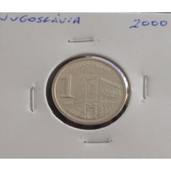 Jugoslávia - 1 Dinar - 2000