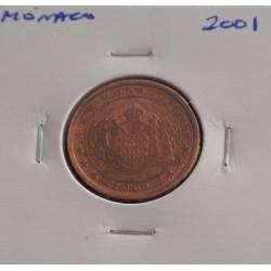 Mónaco - 5 Centimes - 2001