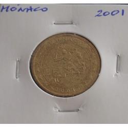 Mónaco - 50 Centimes - 2001