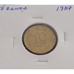 França - 10 Centimes - 1987