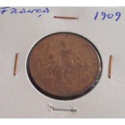 França - 5 Centimes - 1909