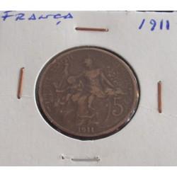 França - 5 Centimes - 1911