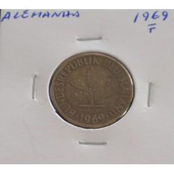Alemanha - 10 Pfennig - 1969 F