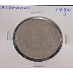 Alemanha - 5 Mark - 1990 J