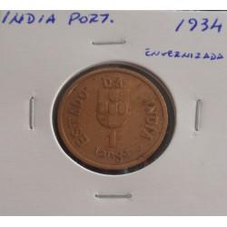 India - 1 Tanga - 1934 (...